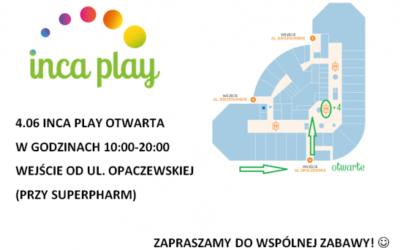 Inca Play otwarta w Zielone Świątki!