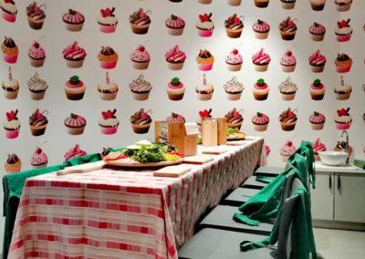 warsztaty kucharskie w sali zabaw